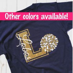 Excited to share this item from my shop: Custom Cheer Shirt, Cheerleader, School Spirit, Cheer Squad, Team Shirt Cheer Coach Shirts, Dance Team Shirts, Cheerleading Shirts, Game Day Shirts, Football Shirts, Cheerleading Cheers, Gymnastics Shirts, Cheer Tryouts, Cheer Coaches