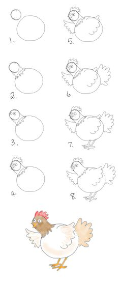 "draw a chicken. ""ain't nobody here, but us chickens"" - theDRAWpage.com"