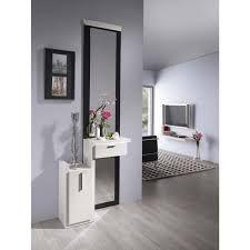 meuble dentre moderne miroir marzio coloris blanc et gris cendr meubles dentre design ou contemporains pinterest entrance halls