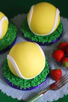 Wimbledon Tennis Ball Cake
