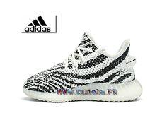c36ffbed30dff Adidas Yeezy 350 Boost Chaussures Officiel Pas Cher Pour Enfant Blancs    Noirs