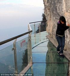 Tianmen Mountain in China glass path sky walk