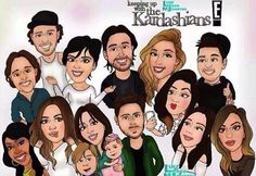 Kendall Jenner - Cartoon of the Kardashian's and Jenner Family   Keeping up with…