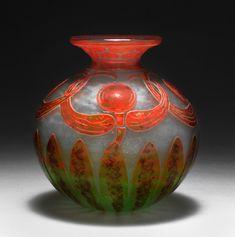 Vase 'Libellules',1919-21 Schneider, Epinay-sur-Seine - France