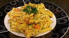 Veggie chicken pasta | www.spicyfusionkitchen.com #nofilter #pasta #spicy #food #blog #recipe
