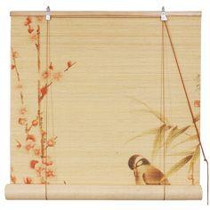Love Bird Bamboo Window Blind - Window Panels