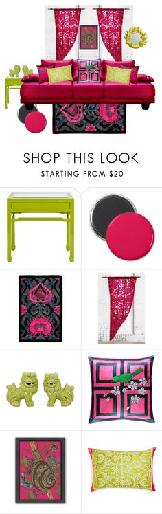 """""""Palette 010"""" by sinupgirl ❤ liked on Polyvore featuring interior, interiors, interior design, home, home decor, interior decorating, Worlds Away, Magical Thinking, Mariska Meijers and Americanflat"""