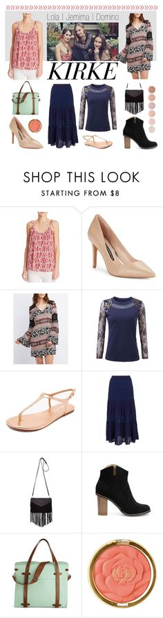 """Celebrity Siblings"" by tmgoodwi ❤ liked on Polyvore featuring Soft Joie, French Connection, Charlotte Russe, Splendid, Morgan, Sandro, Milani and Deborah Lippmann"