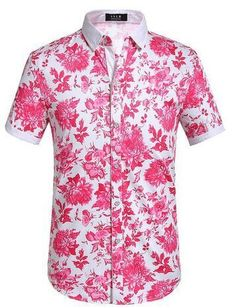 fdbe6eac91774 SSLR Men s Floral Button Down Short Sleeve Hawaiian Style Tropical Shirt  Machine wash or hand wash Straight fit