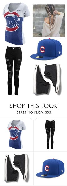 """""""Chicago Cubs"""" by lesley-danae-2003 on Polyvore featuring NIKE, Dorothy Perkins, Keds and New Era"""