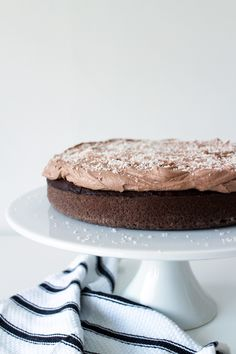 Coconut and Nutella Chocolate Cake | Made From Scratch