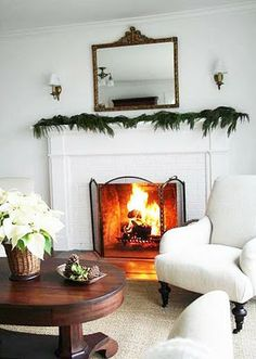 simple christmas mantle