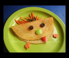 Food art for picky eaters on Little Food Junction. If your kids love crepes they will surely cherish this delicious version.