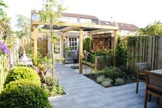 Tuinontwerp kleine tuin Piershil - hoveniersbedrijf Van der Waal Tuinen