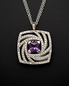 Luca Carati 18K 2.78 ct. tw. Diamond & Amethyst Necklace