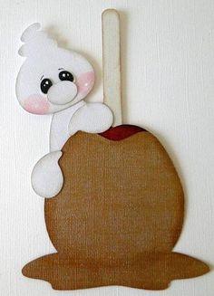 TOCG Carmel Apple Ghost Paper Piecing Scrapbooking PreMade Album danderson651