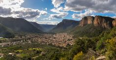 View over Leonidio, Greece