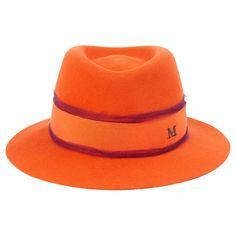 MAISON MICHEL ORANGE HAT | Vestiaire Collective