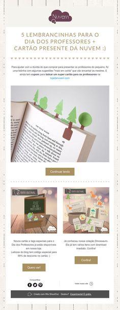 5 Lembrancinhas Dia dos Professores + Cartão para download - presente da Nuvem :)