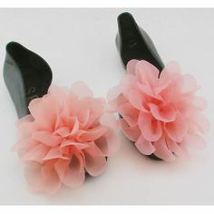 Jelly Black Pink Rosette Flat Open Toe Evening Cocktail Shoes Sandals SKU-1091015