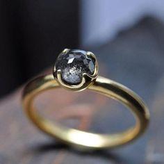 Rose Cut Diamond Ring.