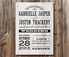 Rustic Wedding Invitation Printable Wedding by SimplyFetchingPaper, $18.00