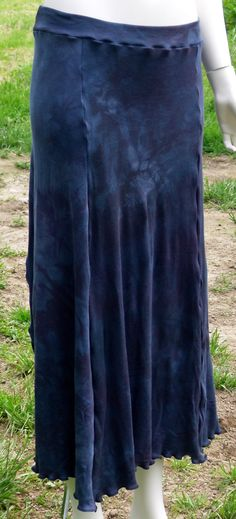 Simple Serenity Skirt in Organic Hand Dyed Smokey Mist size Large by KreativeMindz, $70.00