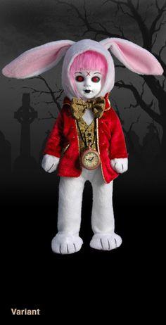 Living Dead Dolls in Wonderland  Eggzorcist as The white Rabbit