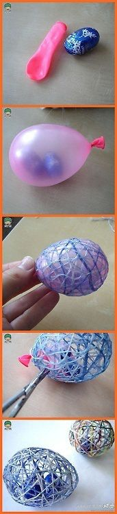 (Link NOT spammed) Easter gift, decoration, or basket idea. #egg #diy •• So cute! I want to try this!