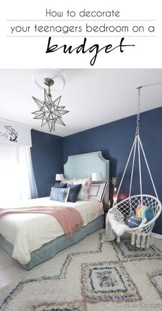 how to decorate your teenagers bedroom on a budget | teenage girl bedroom ideas | how to decorate with a teenager | teen girl bedroom | decorating tips for teenagers  via @jakonya