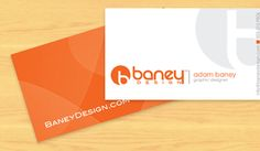 orange and grey business card - Google Search