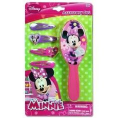 Amazon.com: Minnie Mouse Bowtique Hair Brush & Barrettess Accessory Set: Toys & Games