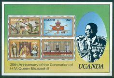 Uganda 1978 QEII Coronation, 25th Anniversary , Royalty MS MUH
