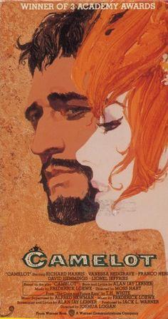Camelot (1967) Richard Harris as King Arthur, Vanessa Redgrave as Guinevere, Franco Nero as Lancelot.