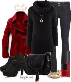 red and black for the holidays...