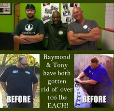 Check out our clients turned friends Raymond and Tony. Raymond just wanted to lose 30 lbs. to be under the maximum weight for a ski lift on vacation. After dropping 100 lbs, he was able to help Tony to do the same as a coach. They are now down over 105 lbs. each! If you know anyone who could use results like this, let us know & we'll help you to reach your goals! We have been blessed with coaches to help us, so it is our mission to pay it forward. Email : pinterest@visitnutritionave.com