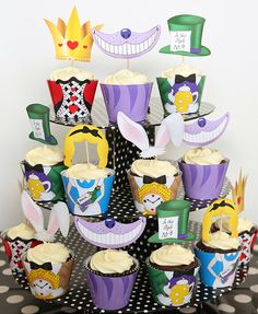Mad Hatters Tea Party Cupcake Wrappers