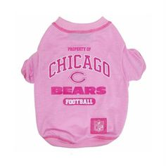Chicago Bears Pink Dog T-Shirt