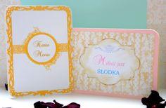 Miłość jest słodka :) Napis na słodki bufet