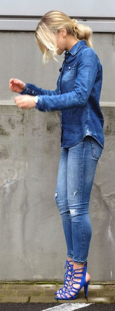 Denim On Denim Styling
