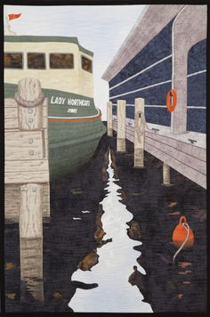 Dockside Reflections by Alison Laurence. Auckland Quilt Guild. 2014 Festival of Quilts.
