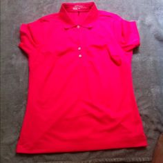 Nike Golf Tech Pique Polo Women's Neon Pink Polo in great condition. 100% polyester Nike Tops