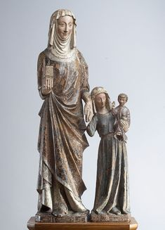 St Anne with the Virgin and Christ Child Madonna, Renaissance, Late Middle Ages, St Anne, Sacred Art, Medieval, Christ, Saints, Sculptures