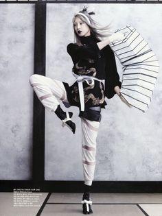 """Soo Joo   """"Martial Arts""""   for Vogue Coréia June 2013   by Hyea Wong Kang"""