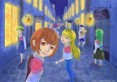 """『人形の街』北原 千 """"Dolls' Town"""" By Sen Kitahara, アクリル, art, acrylic"""