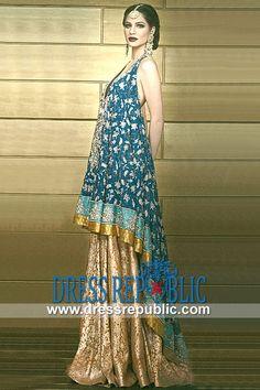 Blue Green Cheville - DR9783, Designer Wear Special Occasion Dresses, Women's Dress for Engagement 2013 Collection by www.dressrepublic.com