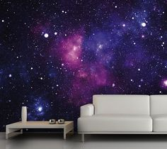 Galaxy Fleece Wall Mural – This fleece wall mural depicts a beautiful galaxy that will add cosmic whimsy to any room. Material: PVC-free mineral fiber glass. Dimensions: 149.6″ x 106.3″ $450