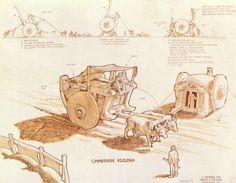 Conan the Barbarian (1982) - pre-production art by Ron Cobb 'Cimmerian Kudzah'