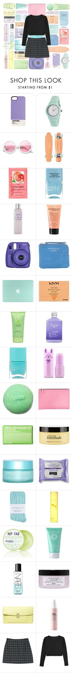 """""""cleo"""" by pastel-skiies ❤ liked on Polyvore featuring Case Scenario, Clyda, ZeroUV, H&M, Nails Inc., Laura Mercier, philosophy, Fujifilm, Acne Studios and NYX"""