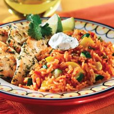 EASY meal: In crockpot on low for 5-6 hours: 1 box of Rice a Roni Spanish rice with flavor packet. 1 14oz can of diced tomatoes. 2 cups of water. 1/2 diced bell pepper. 4 chicken breast cutlets. Rice comes out perfect, and the chicken is crazy tender.